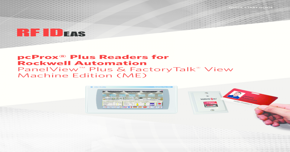 pcProx Plus Readers for Rockwell Automation Plus Readers for