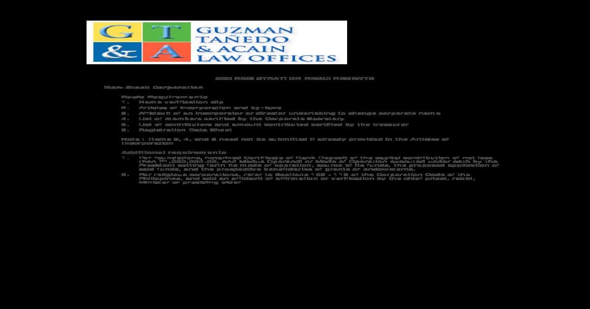 SEC REGISTRATION REQUIREMENTS Non-Stock Corporation _Non