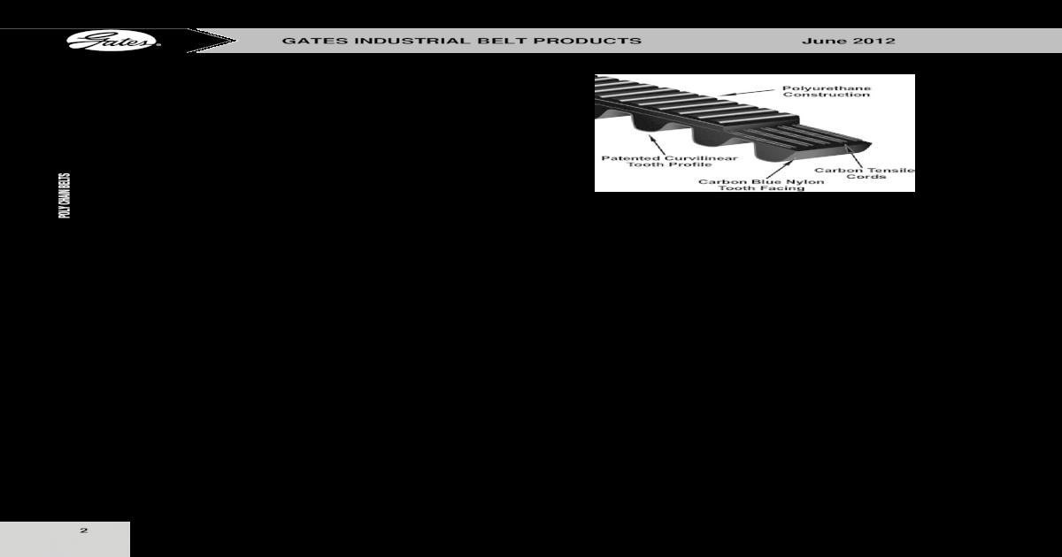 Gates T5-270-4 Synchro-Power Polyurethane Belt T5 Pitch 270mm Pitch Length 4mm Width 54 Teeth