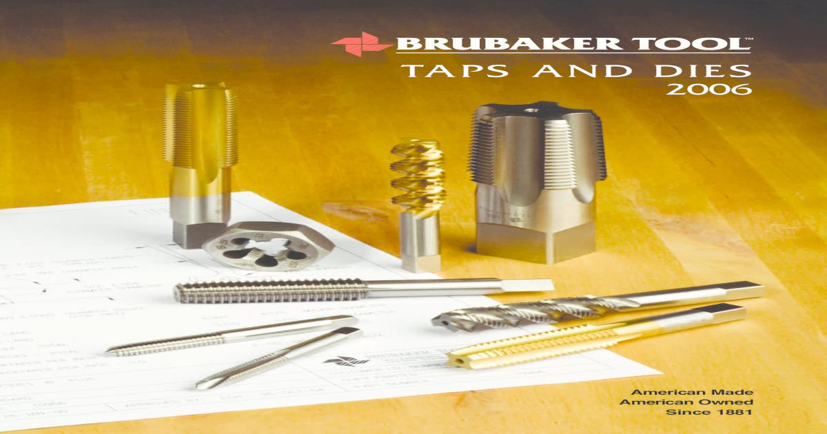 Brubaker Tool 10278 General Purpose Machine Tap 10-32 NF GH3 HSS New