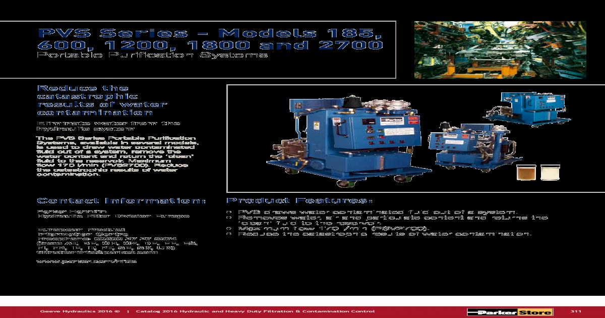 Ordering Information PVS Series - Models 185, 600, 1200
