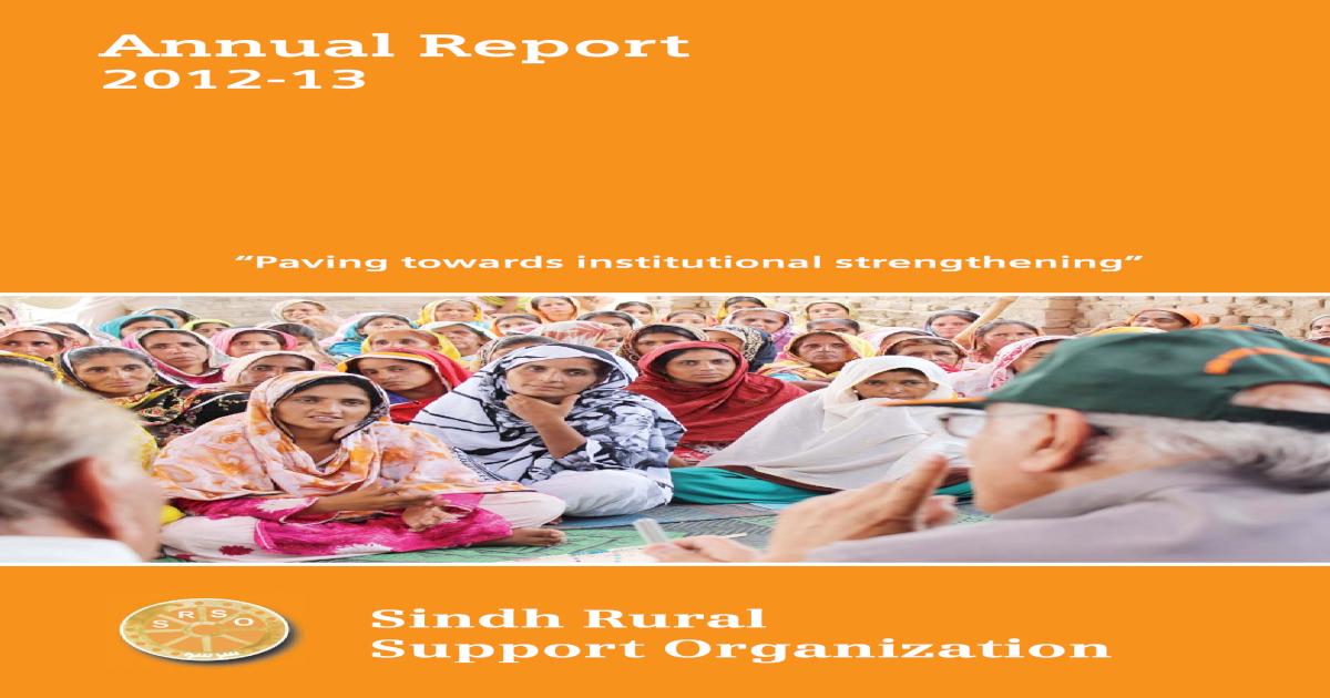 Paving towards institutional strengthening Paving Report2012-13
