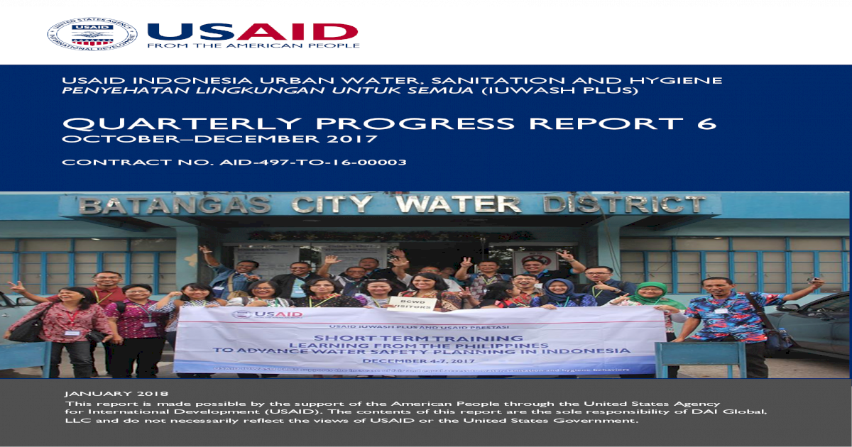 Desain Taman Batu Alam quarterly progress report 6 quarterly progress report 6