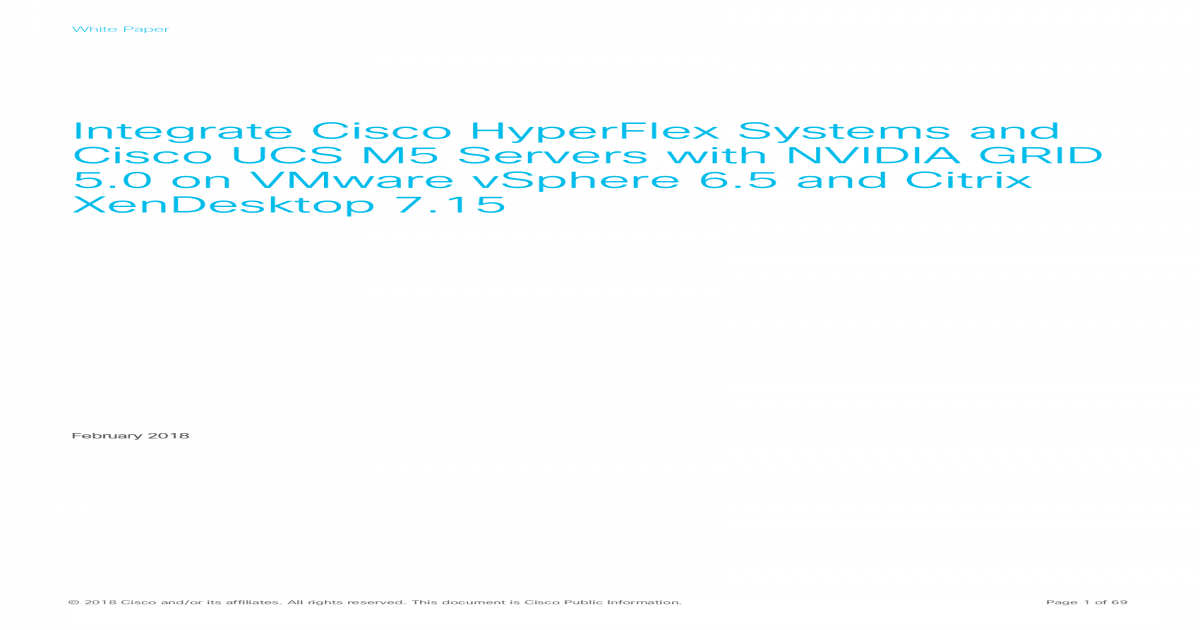 Integrate Cisco HyperFlex Systems and Cisco UCS M5 ? best to