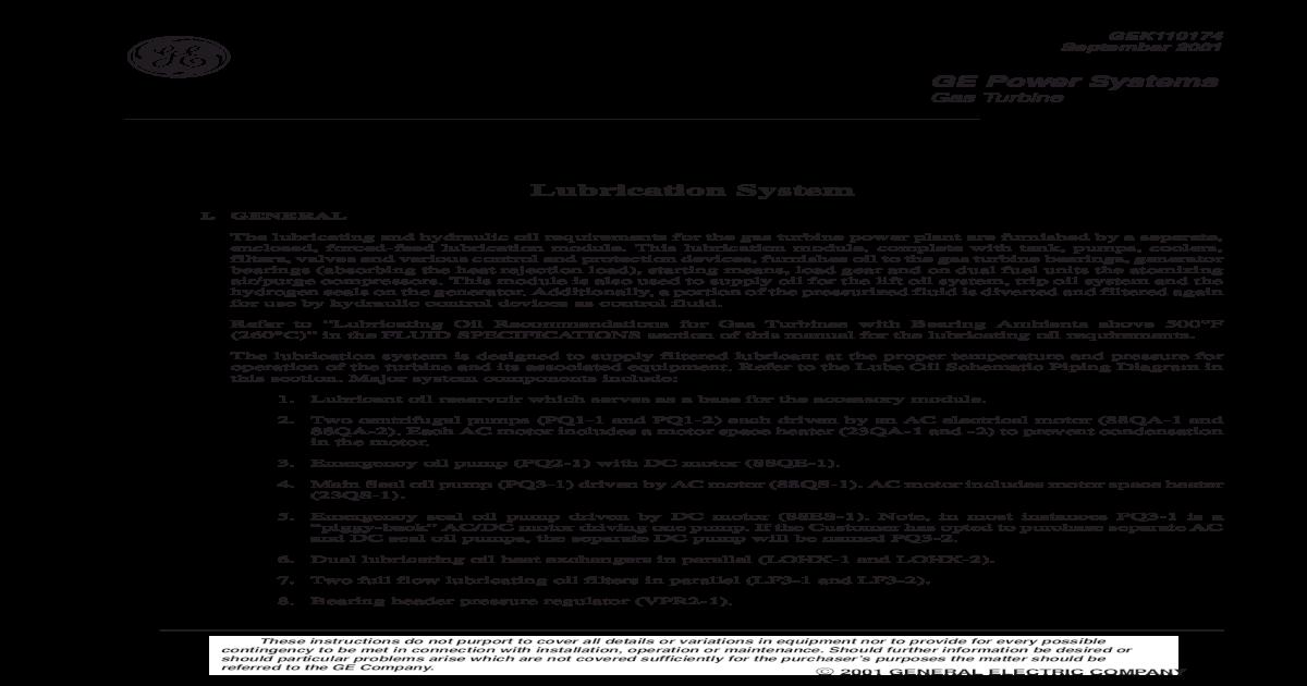 1 - System Description Gek110174