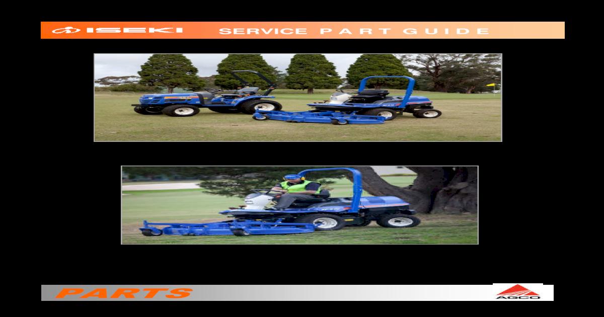 Iseki - Service Parts Guides Service   iseki sf300 sf330