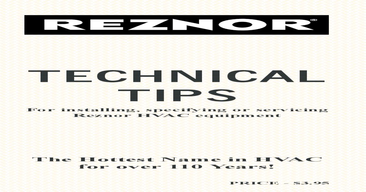 Reznor Handbook on