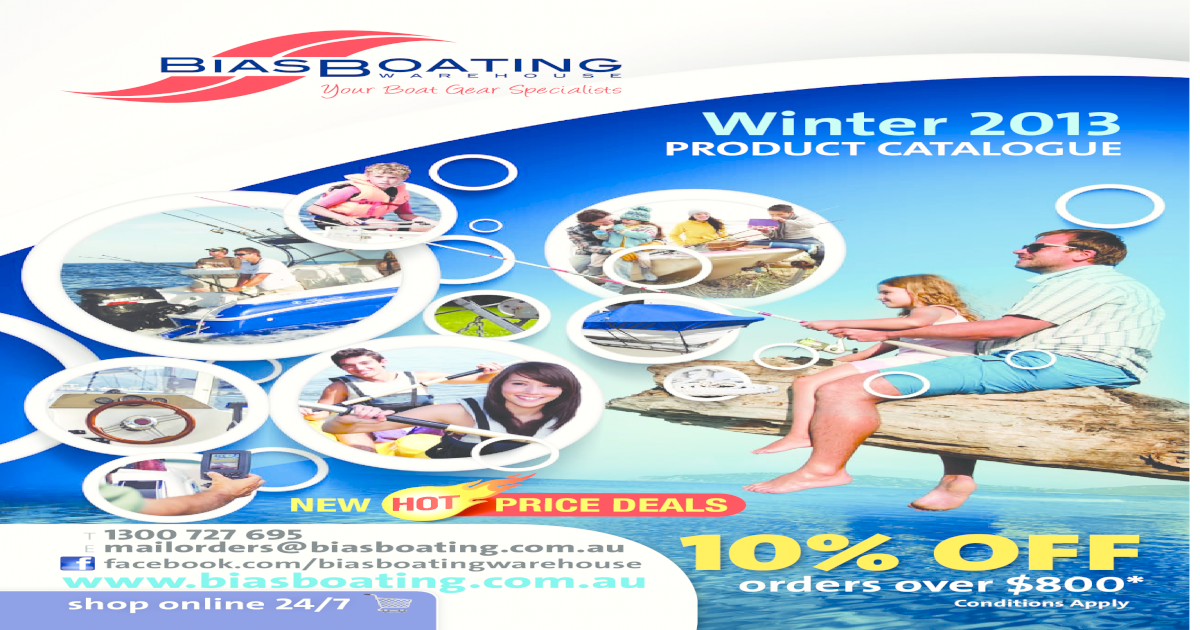 2013 Bias Boating Winter Product Catalogue