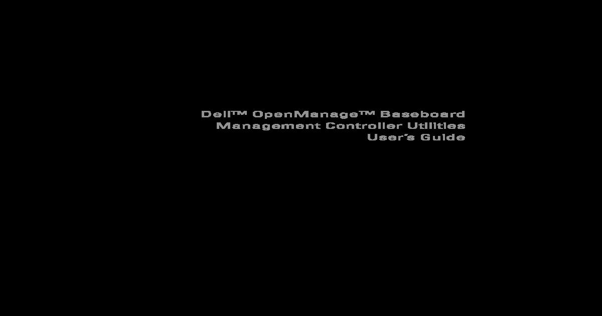 Dell BMC User Guide