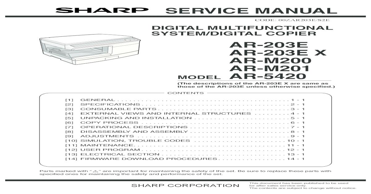 AR M201 Service manual