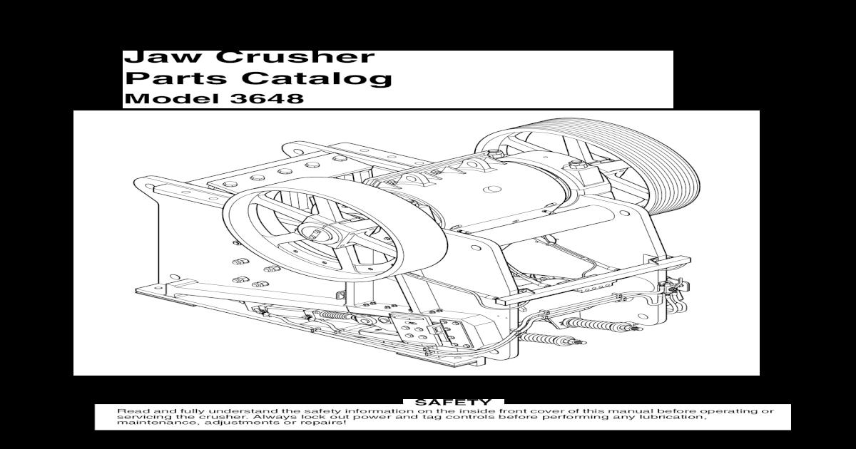 Telsmith Jaw Crusher Manual
