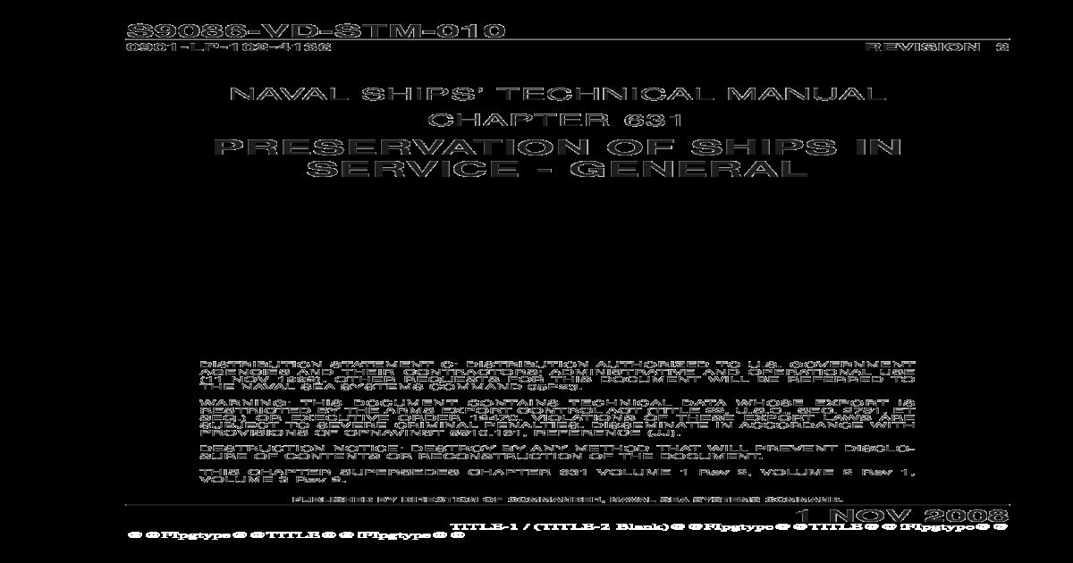 S9086-VD-STM-010(PRESERVATION OF SHIPS IN SERVICE material