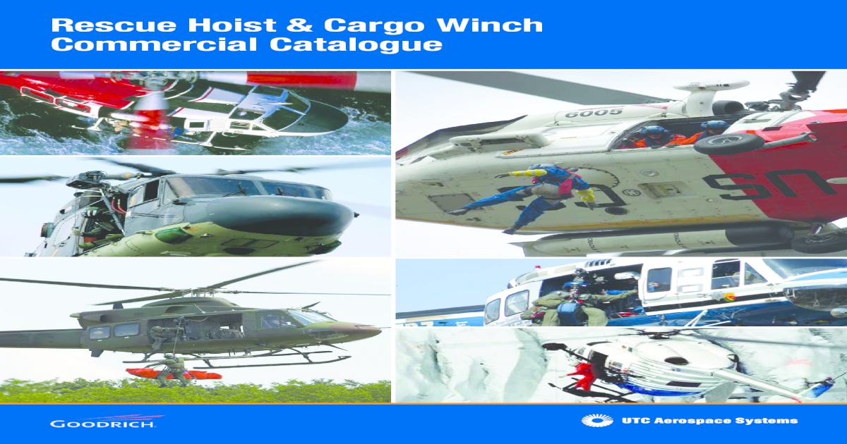 Rescue Hoist Cargo Winch Commercial Hoist Cargo Winch