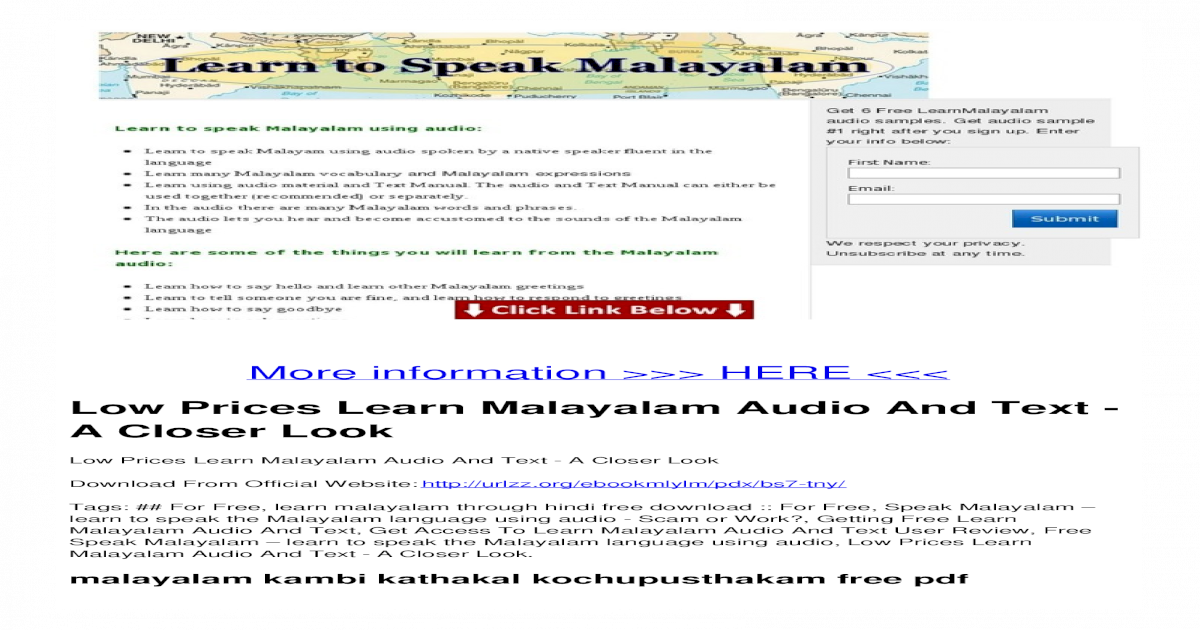 Low Prices Learn Malayalam Audio And Text - A Closer Look