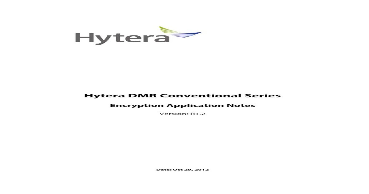 DMR Encryption Application Notes R1 2
