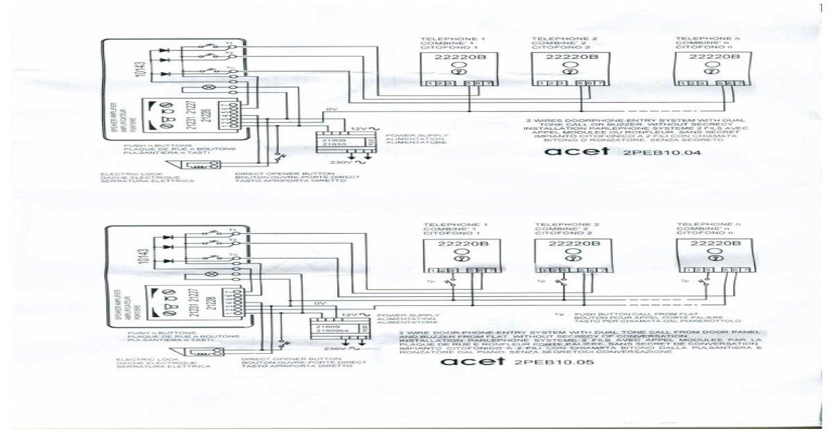 Acet 2 Wire Diagrams Acet Intercom Wiring Diagram on