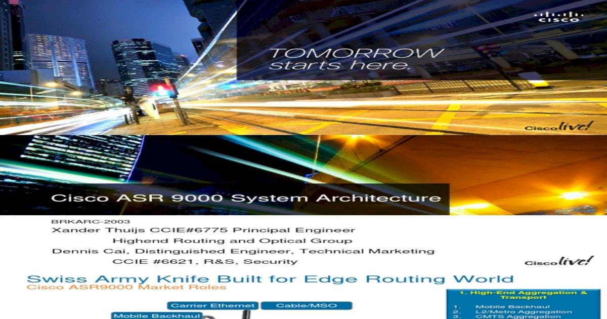 Cisco ASR 9000 System Architecture