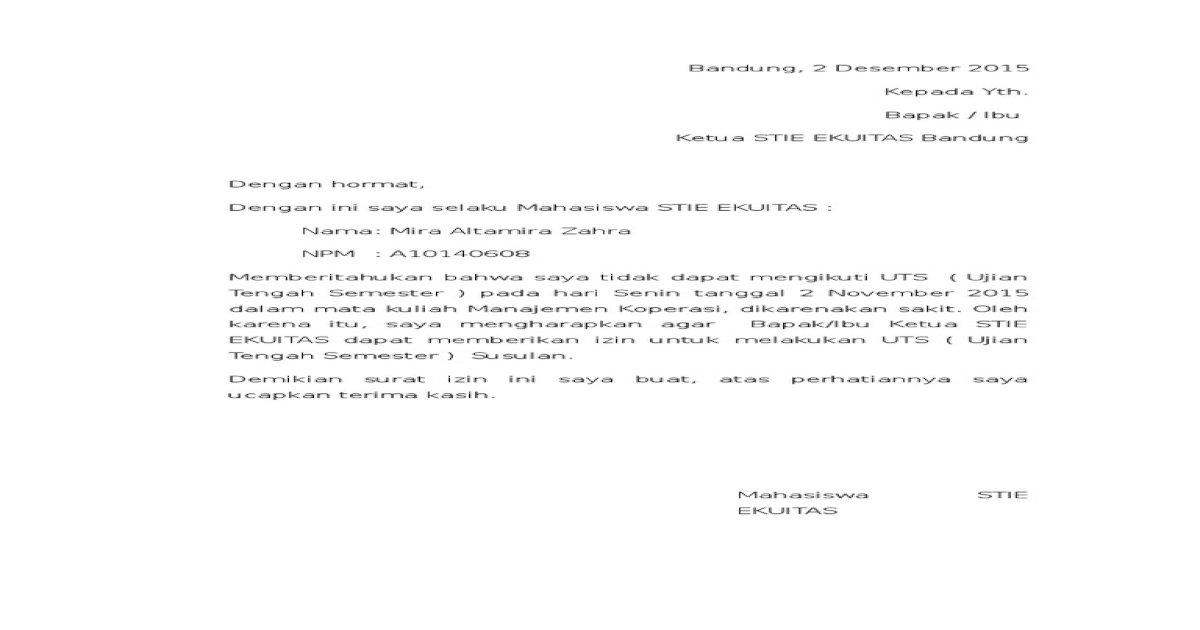 Surat Keterangan Sakit Altamira