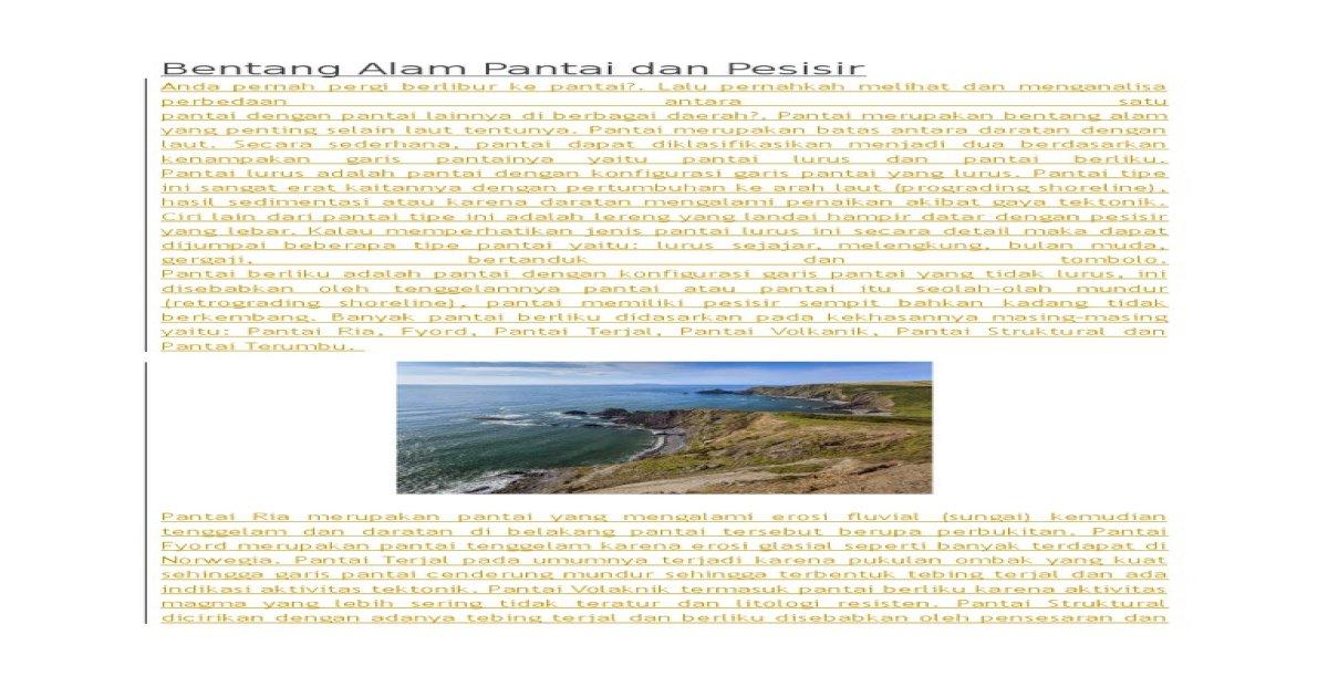 Pernyataan Yang Benar Tentang Sedimentasi Fluvial Adalah ...