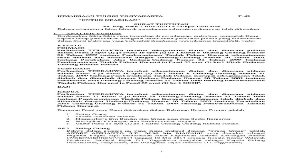 Contoh Surat Tuntutan