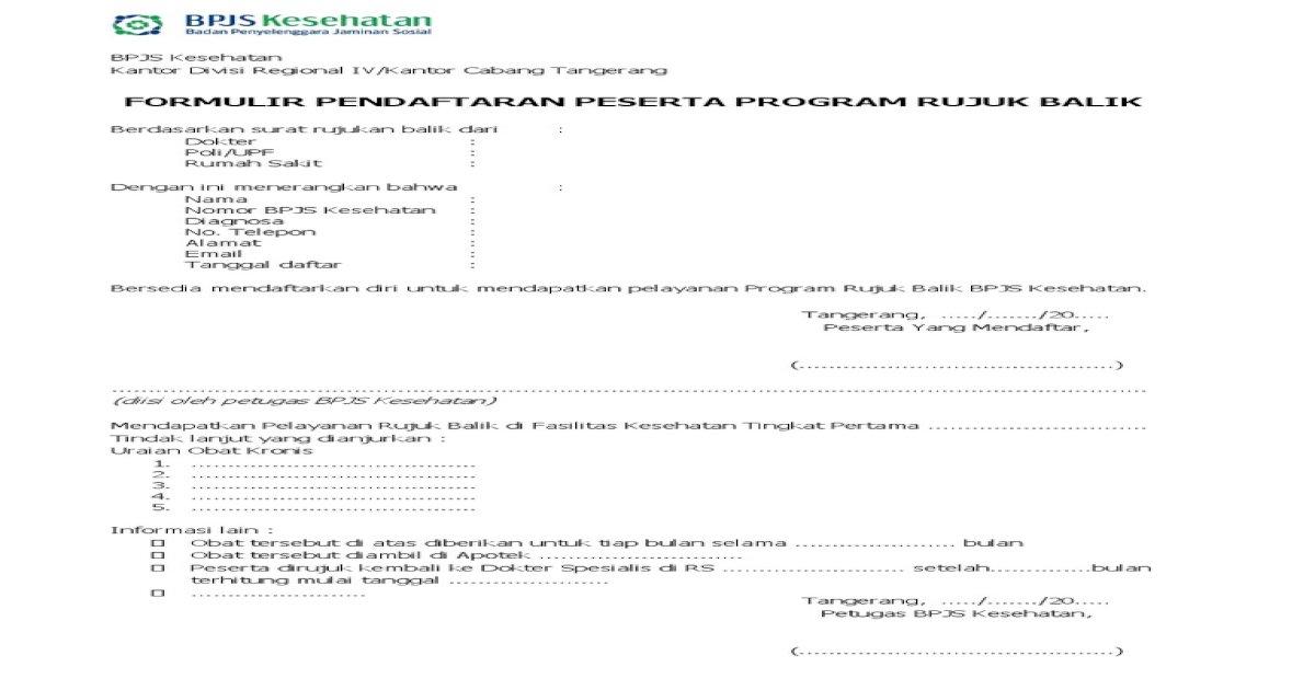Form Pendaftaran Prb