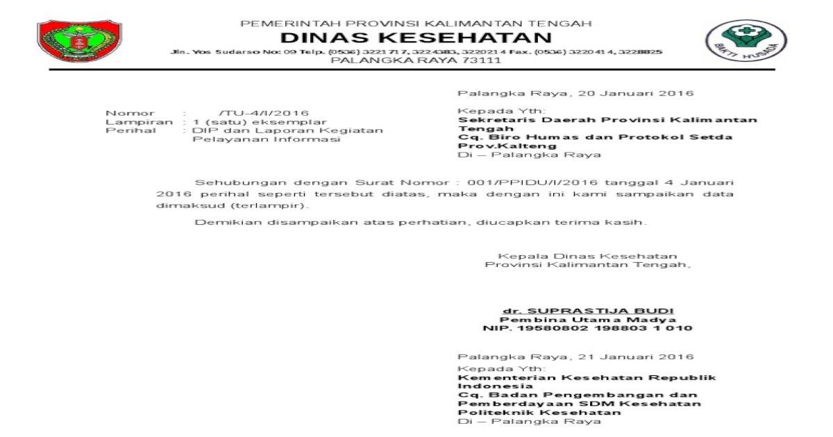 Surat Balasan Sekda