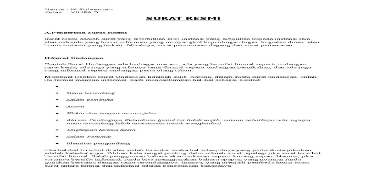 23 M Sulaeman Surat Resmi