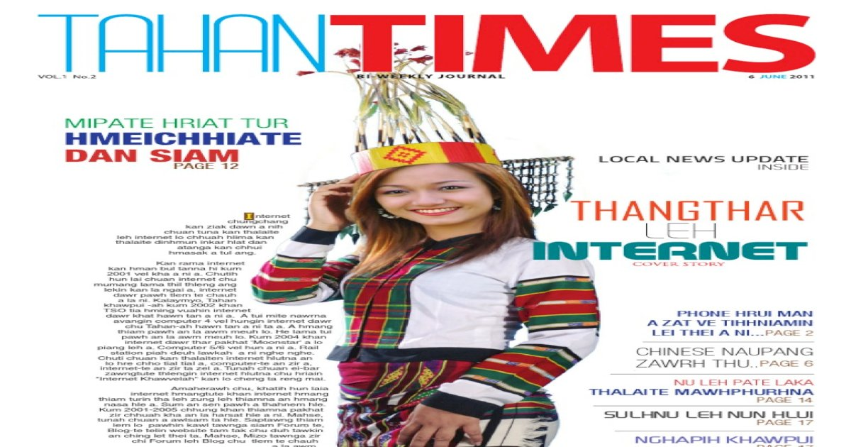 Tahan Times Journal Vol  1  No  2, June 6, 2011