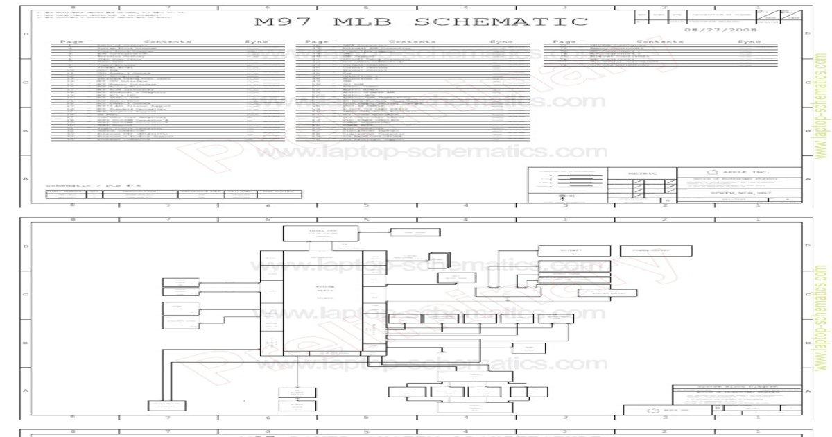 Macbook A1278 820-2327 Schematic Diagram on