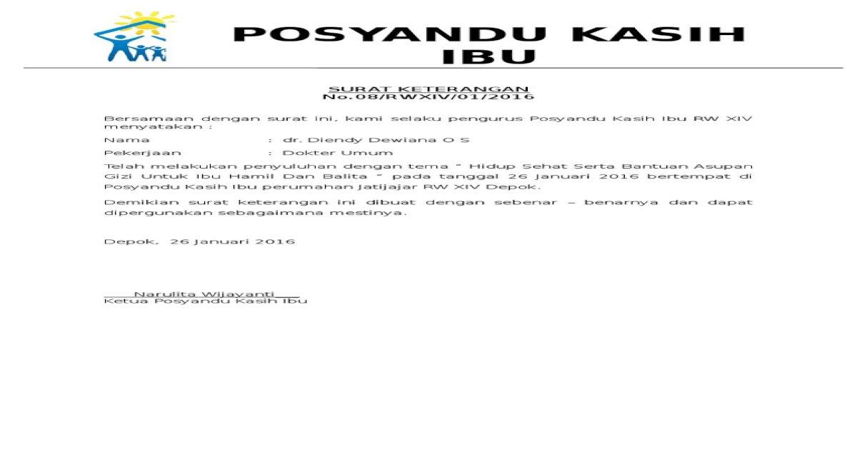 Surat Keterangan Posyandudocx