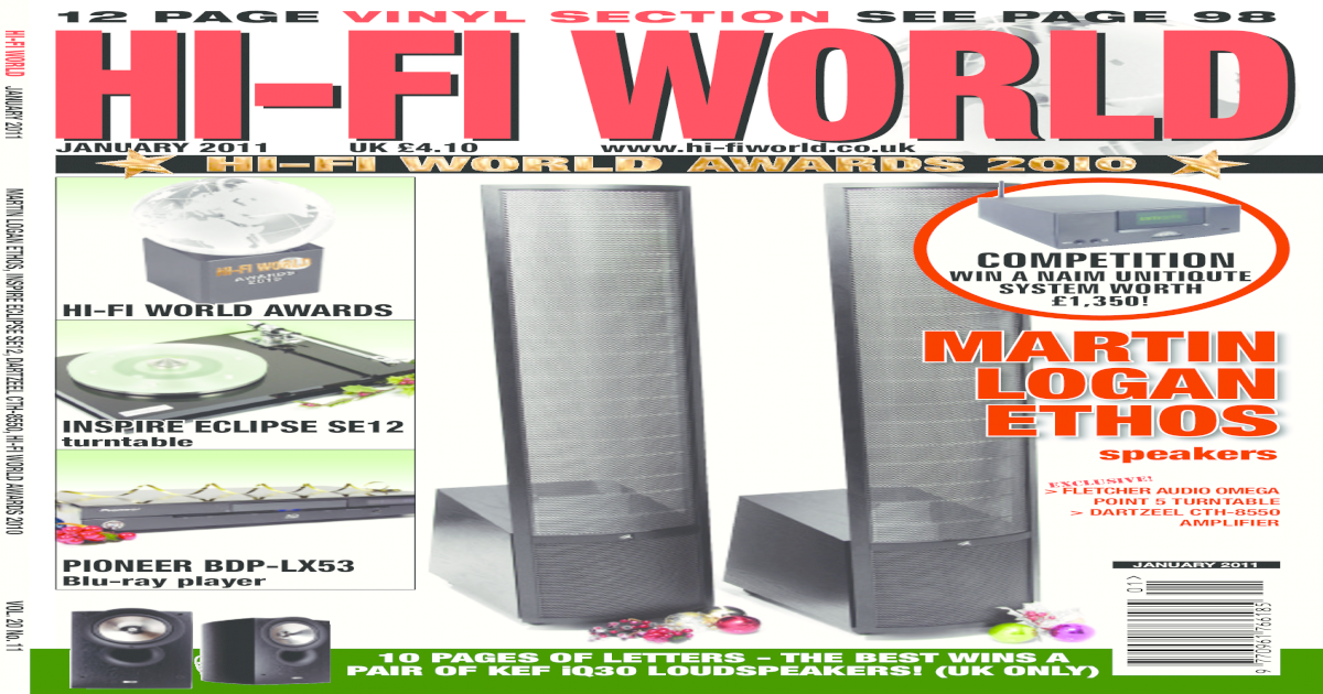 Hi-Fi World UK - January 2011-TV