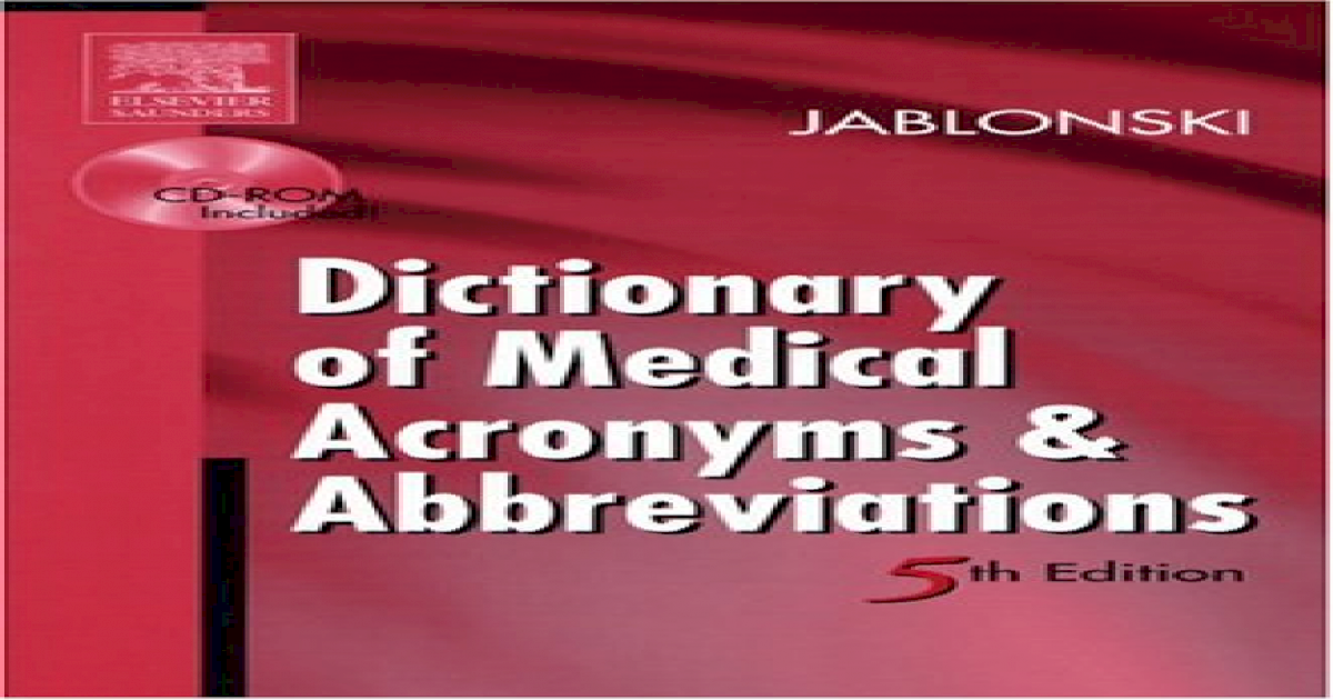 Short Form of Medical Term