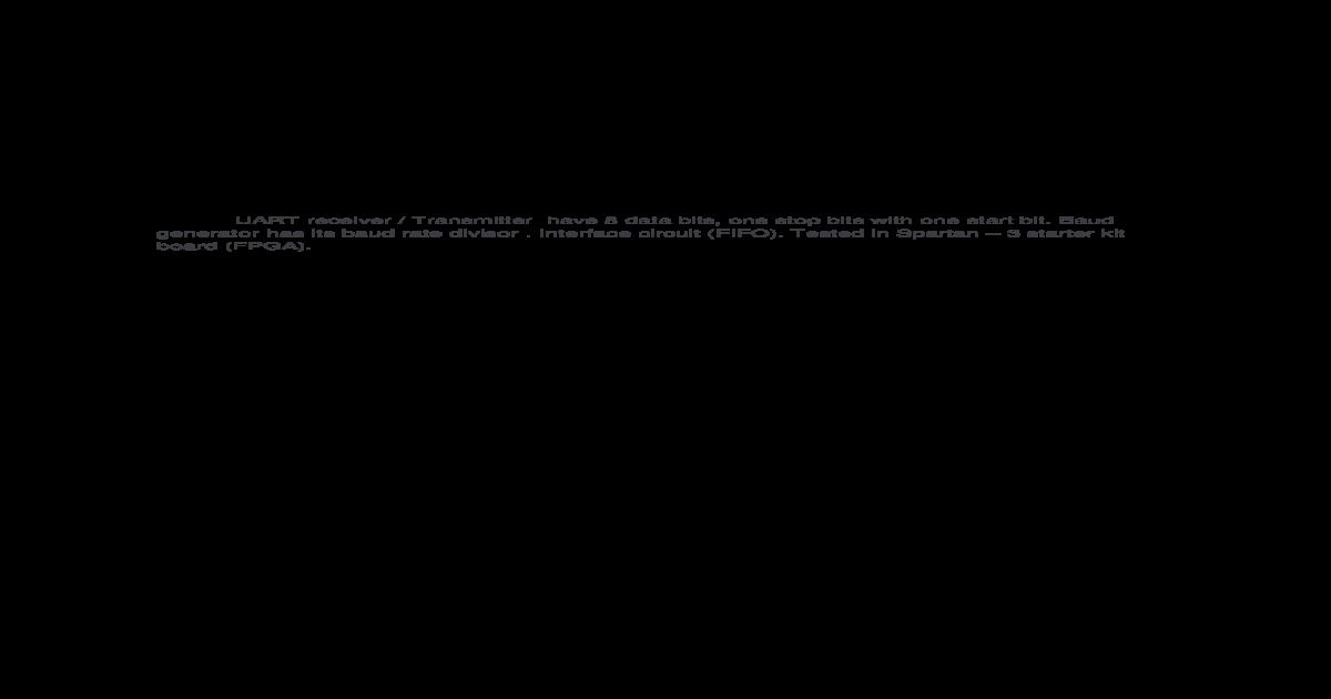UART (Verilog Code) with FSM