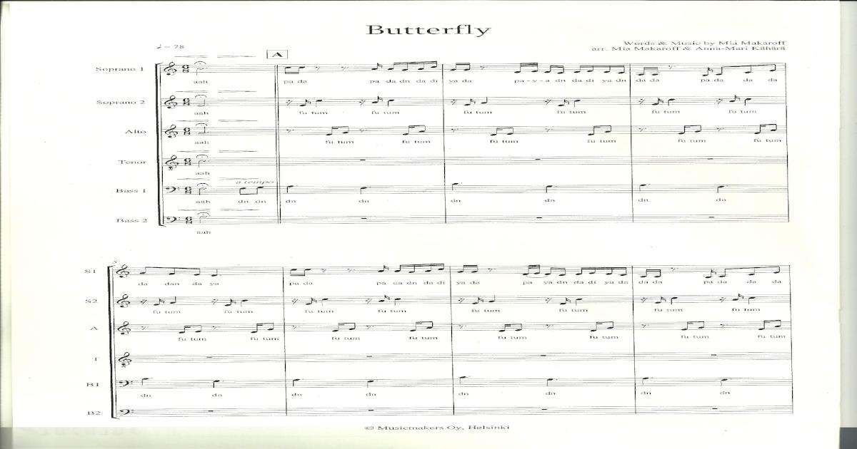 Butterfly - Rajaton - Score