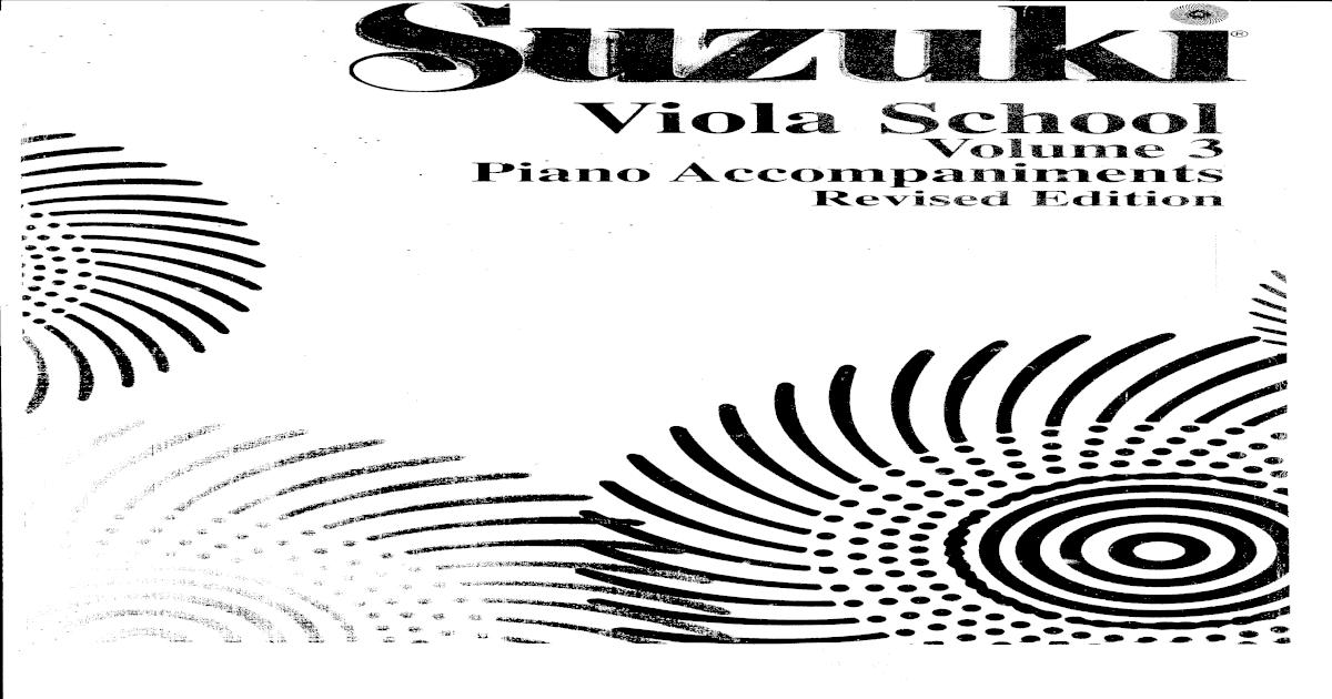 SUZUKI Viola School Volume 3 Piano Accompaniments