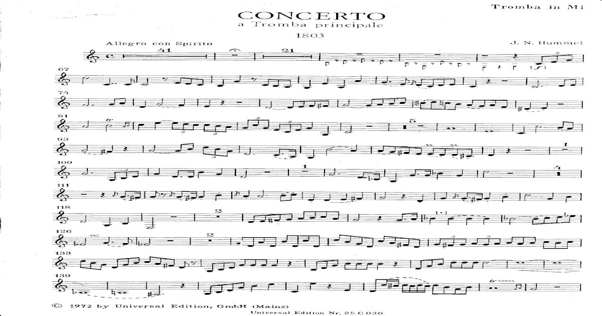 Hummel - Concerto for Trumpet