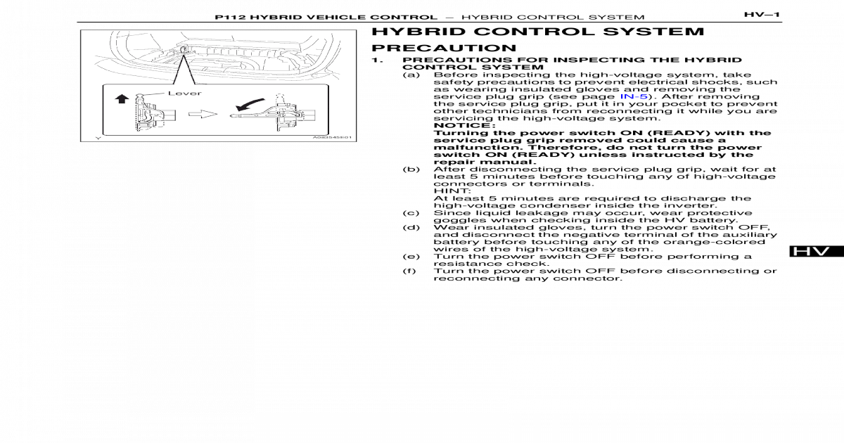 HV - P112 Hybrid Vehicle Control Part 1