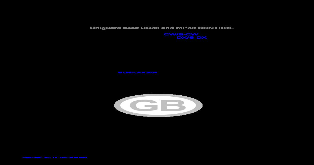 k Uniflair Ug30