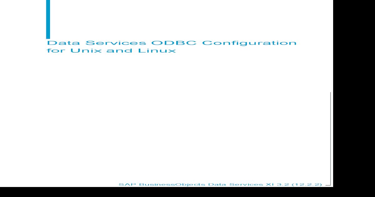 Ds Odbc Linux Unix