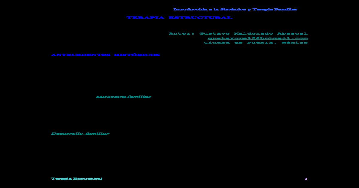 Modelo Estructural Minuchin Pdf