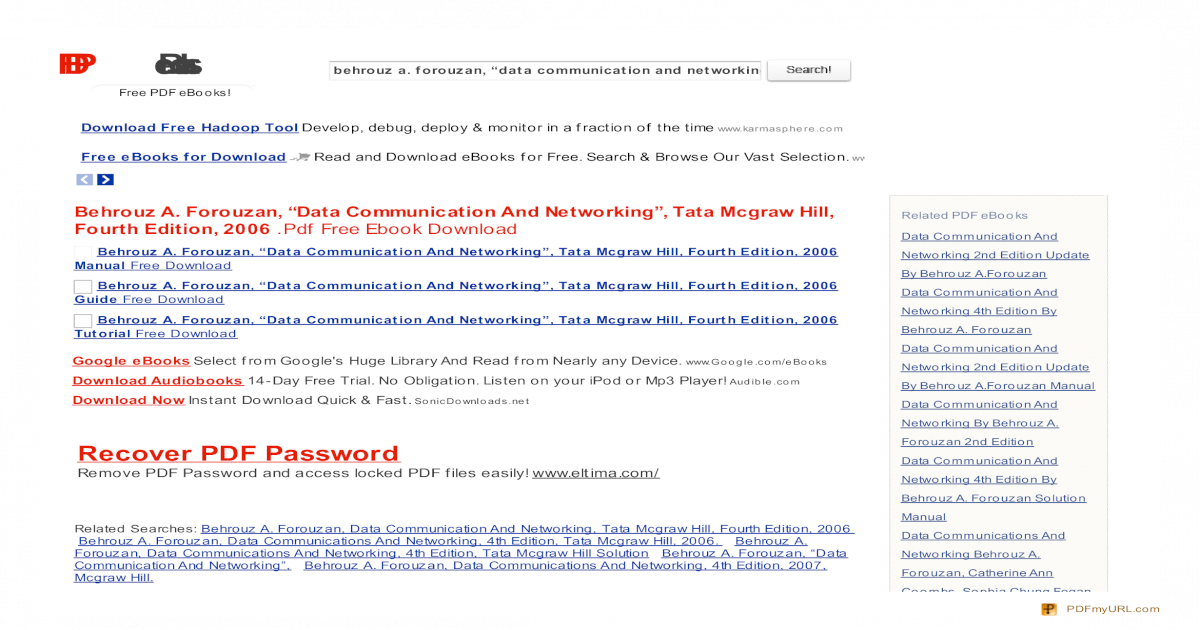 Search PDF Books com Behrouz a  Forouzan Data Communication