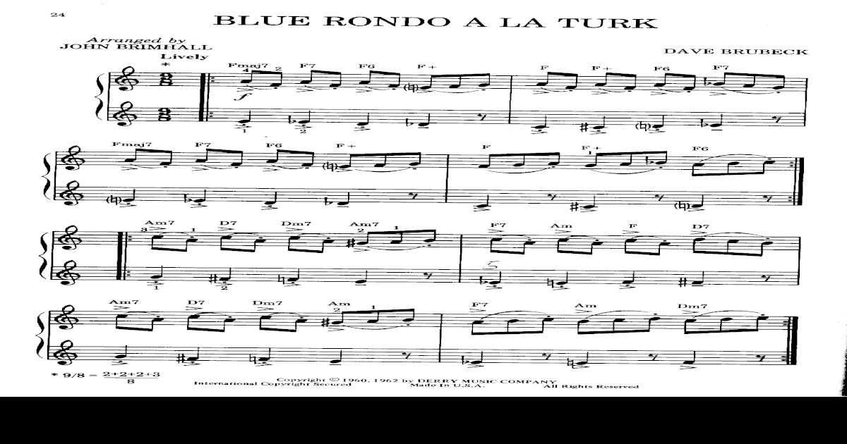 Blue Rondo A La Turkpdf