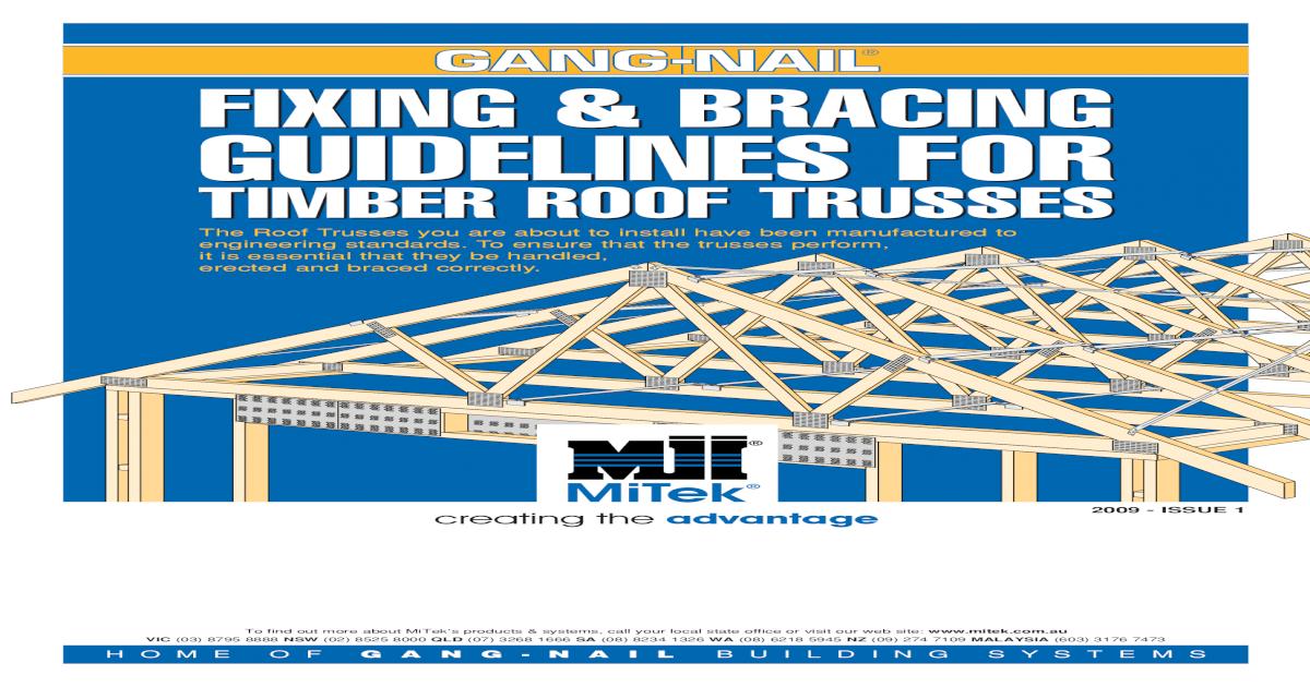 Mitek Roof Construction