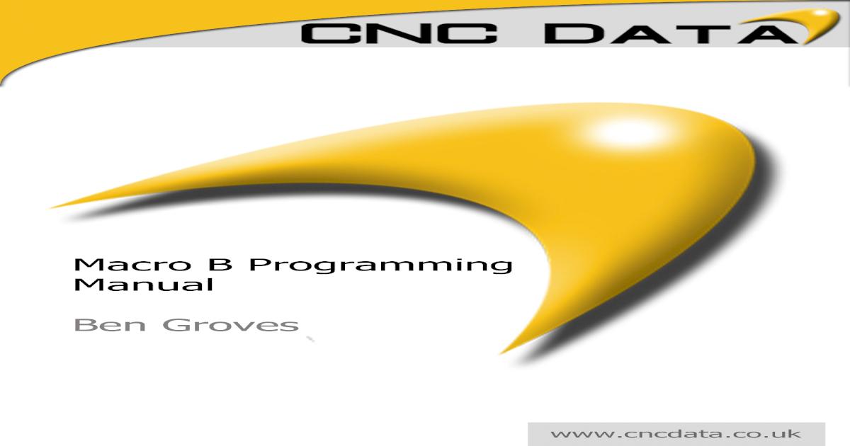 Fanuc Macro B Programming Manual
