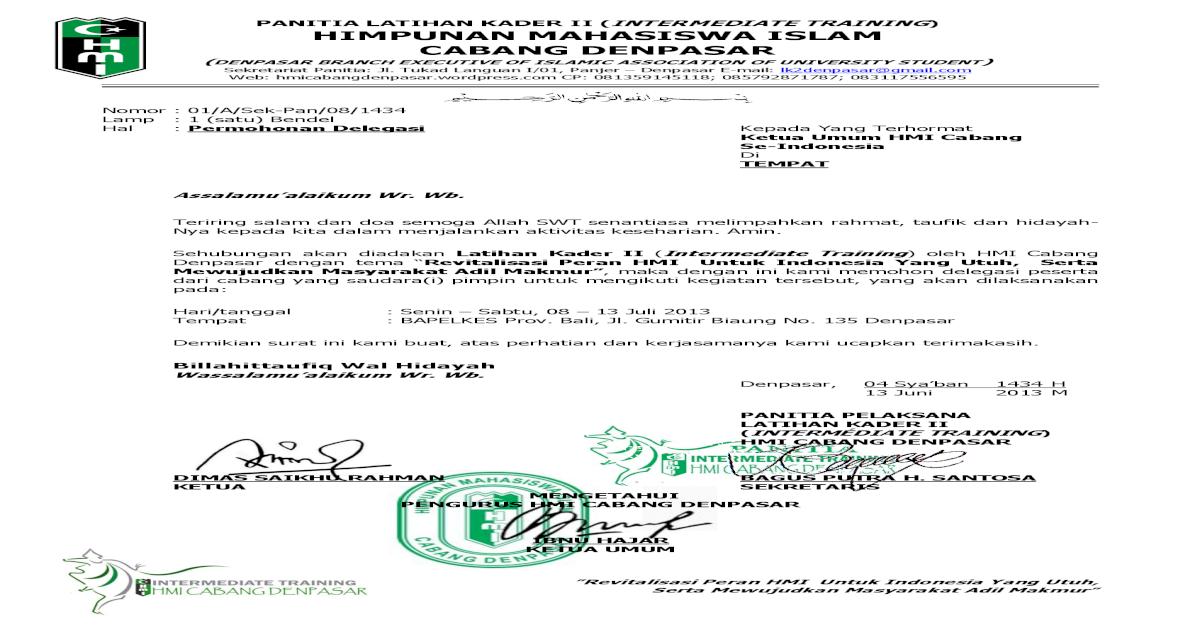 Panitia Latihan Kader Ii Intermediate Materi Screening 1