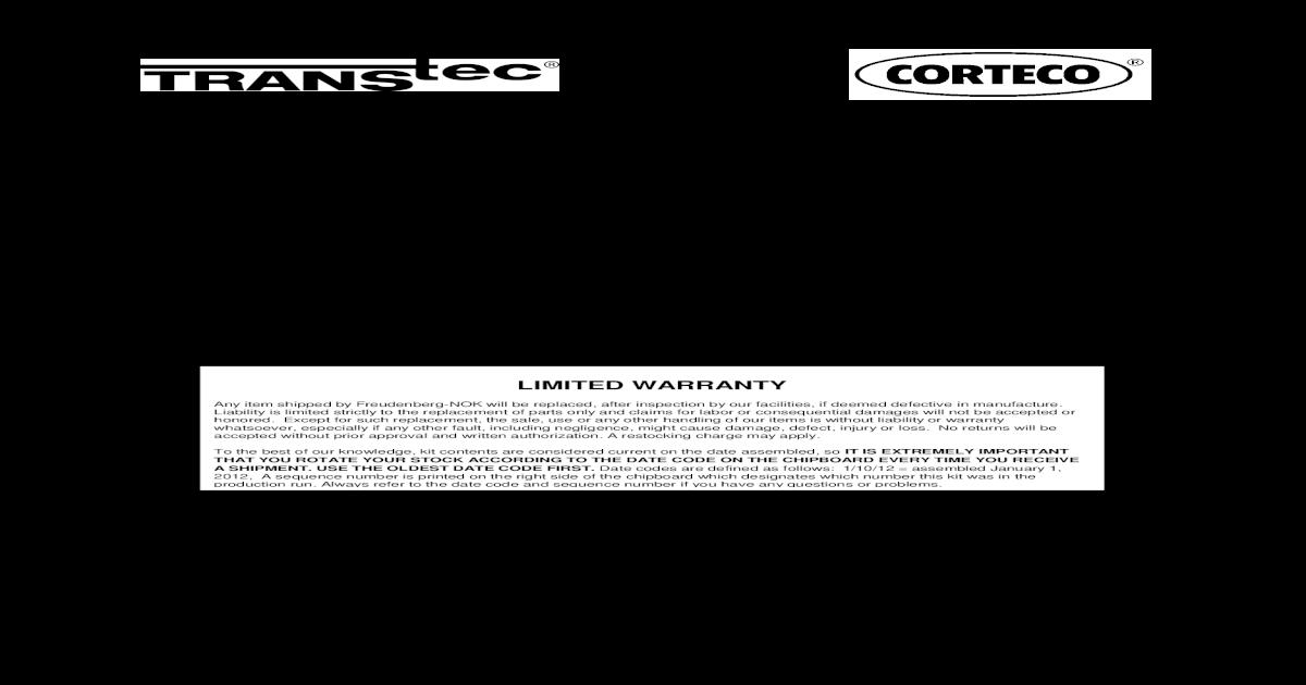 Large 3rd Accumulator Transtec B26874 Seal