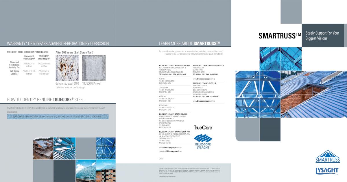 Lysaght Purlin Catalogue