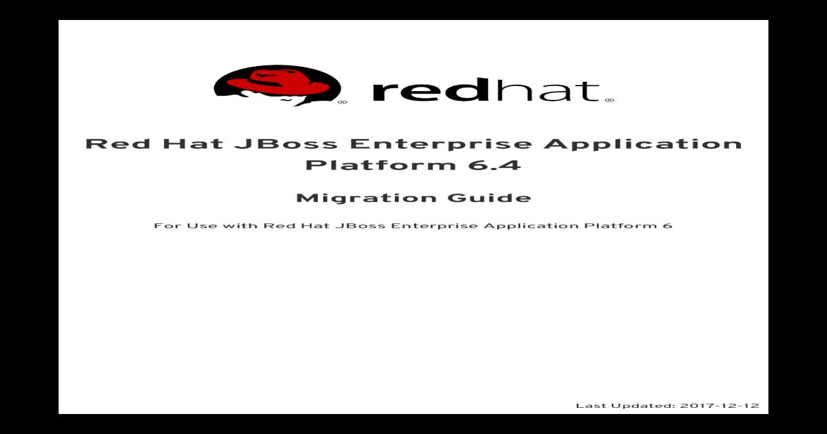 JBoss Enterprise Application Platform 6 4 Migration Guide