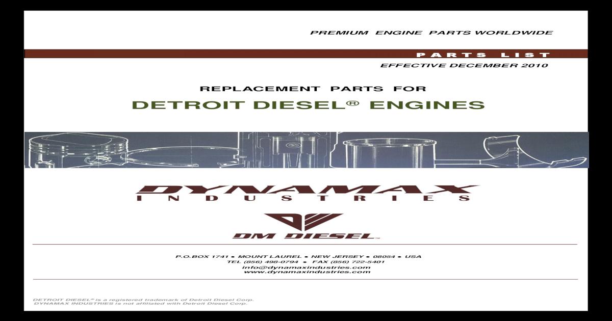 Governor Control Link Hose Detroit Diesel 8924267