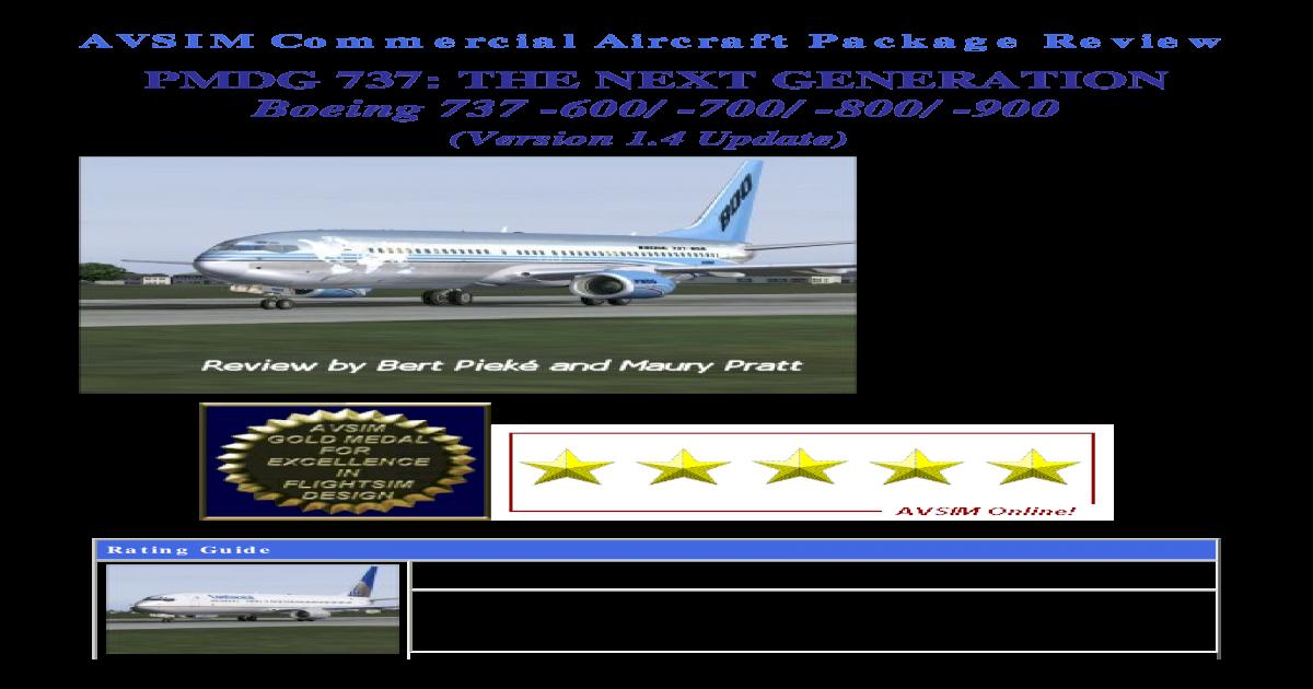 PMDG 737: THE NEXT GENERATION Boeing 737 - AVSIM PMDG NG